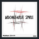 """Martial Arts Indomitable Spirit Wall Sticker<br><div class=""""desc"""">An important tenet or virtue to a martial artist is indomitable spirit - overcoming your fears.  The Martial Arts Indomitable Spirit Wall Sticker features an abstract black,  red and gray fractal art design background and an Asian style font.</div>"""