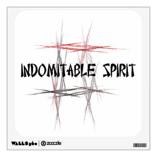 Martial Arts Indomitable Wall Sticker