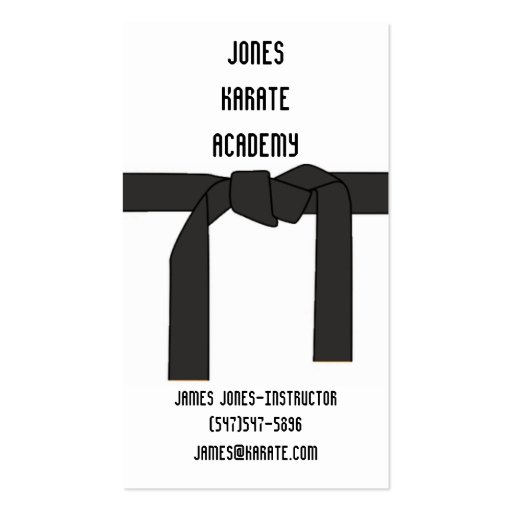 Martial Arts Instructor Business Card