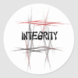 Martial Arts Integrity Classic Round Sticker