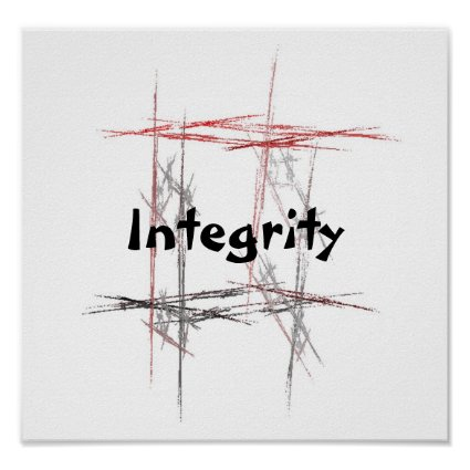 Martial Arts Integrity Poster
