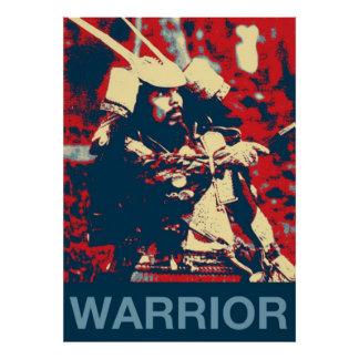 Martial Arts Japanese warrior Samurai Poster