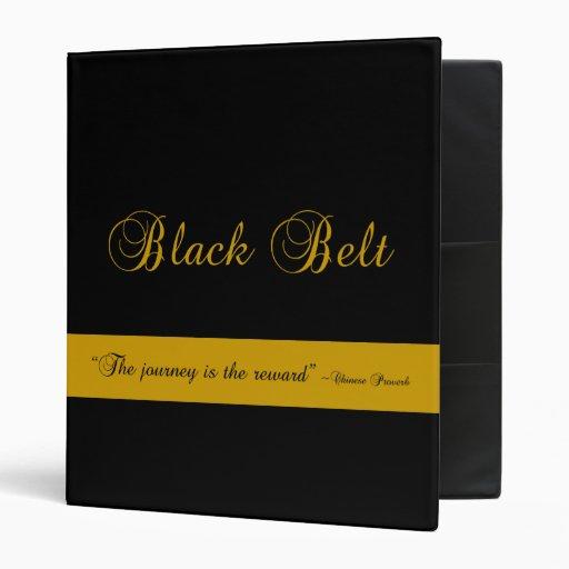 Martial Arts Journey Black Belt Binder