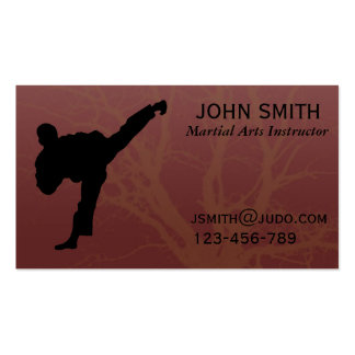 Martial Arts Judo / Karate /Tae Kwon Do Instructor Double-Sided Standard Business Cards (Pack Of 100)
