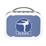 Martial Arts, Karate, Blue & White Stripes Replacement Plate
