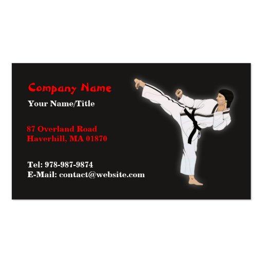 Martial Arts/Karate Business Card