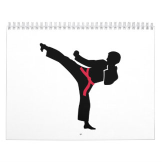 Martial arts Karate kick Calendar