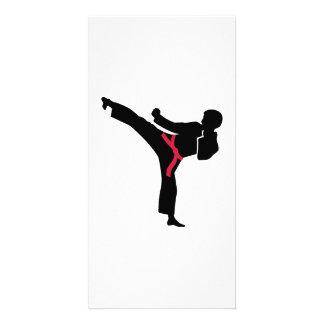 Martial arts Karate kick Photo Card