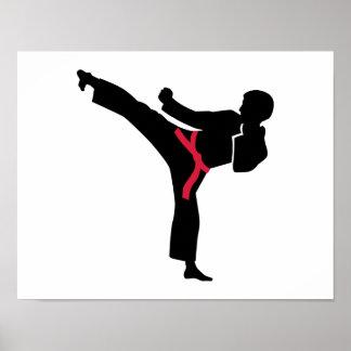 Martial arts Karate kick Poster
