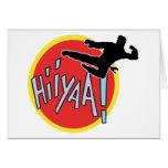 Martial Arts Karate Kid Greeting Card