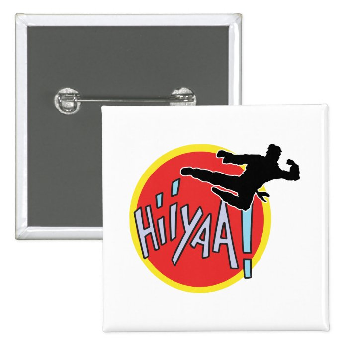 Martial Arts Karate Kid Pinback Button