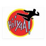 Martial Arts Karate Kid Post Card