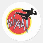 Martial Arts Karate Kid Round Sticker