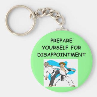 martial arts basic round button keychain