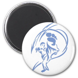 Martial Arts Kick Magnet Refrigerator Magnets