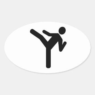 Martial arts kick symbol stickers
