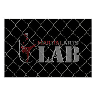Martial Arts Lab under Cage Fence - Poster