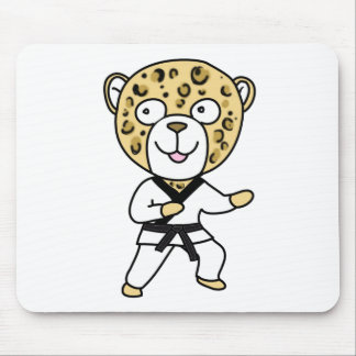 Martial Arts Leopard Mouse Pad