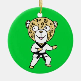 Martial Arts Leopard Ornament