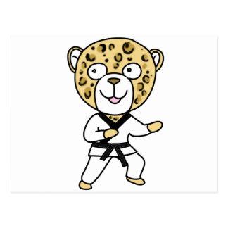 Martial Arts Leopard Postcard