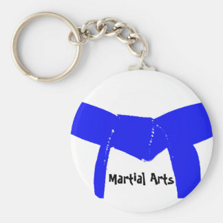 Martial Arts Light Blue Belt Keychain