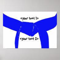 Martial Arts Light Blue Belt Poster Print