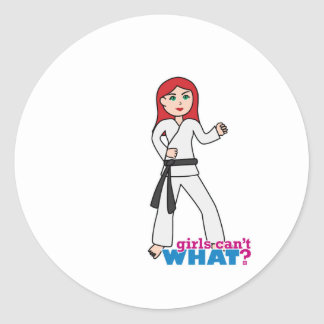 Martial Arts Light/Red Classic Round Sticker