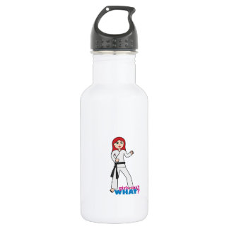 Martial Arts Light/Red 18oz Water Bottle