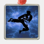 Martial Arts Lightning Blue Male Design Christmas Tree Ornament