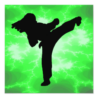 Martial Arts Lightning Invitations