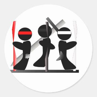 Martial Arts Logo 5 Round Sticker