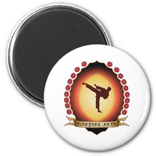 Martial Arts Mandorla 2 Inch Round Magnet