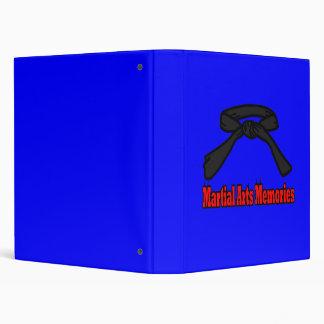 Martial Arts Memories Scrapbook Album in blue Binder