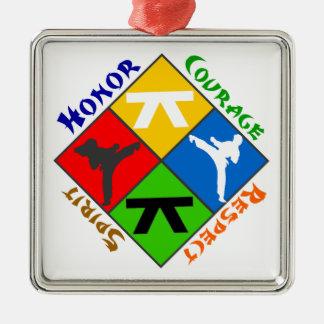 Martial Arts Metal Ornament
