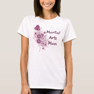 Martial Arts Mom Pink Butterfly T-Shirt
