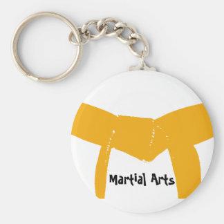 Martial Arts Orange Belt Basic Round Button Keychain