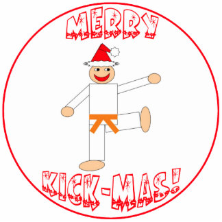 Martial Arts Orange Belt Christmas Ornament Photo Cutouts