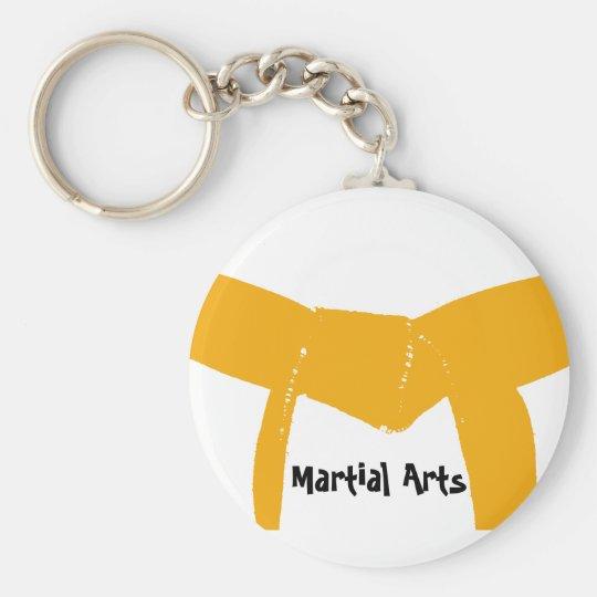 Martial Arts Orange Belt Keychain