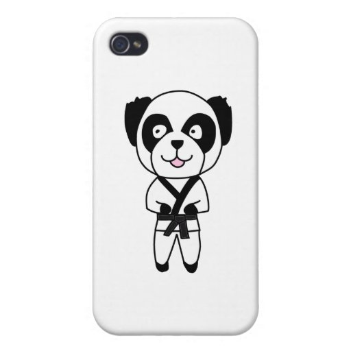Martial Arts Panda Bear Cases For iPhone 4
