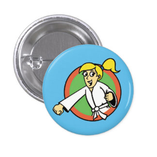 Martial Arts Party Kid 1 Button