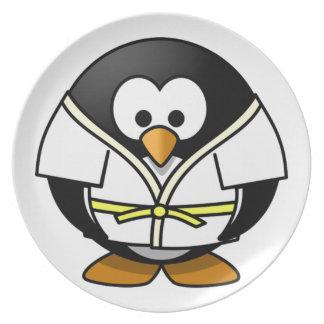 Martial Arts Penguin Kids Party Plates