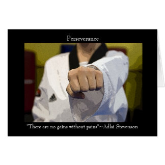Martial Arts Perseverance Inspirational Card