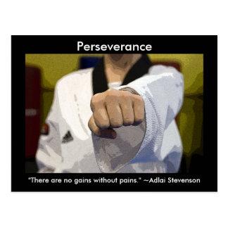 Martial Arts Perseverance Postcards