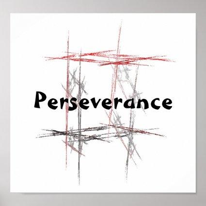 Martial Arts Perseverance Poster