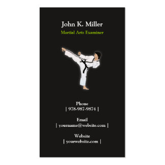 Martial Arts Personal Trainer Business  Card Double-Sided Standard Business Cards (Pack Of 100)