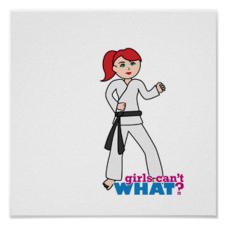 Martial Arts - Ponytail Light Red Print