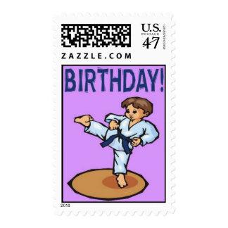 Martial Arts Postage Young Boy Birthday