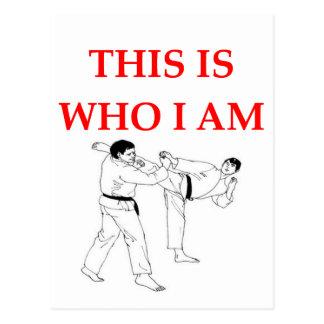 martial arts postcard