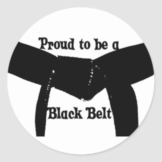 Martial Arts Proud to be a Black Belt Stickers