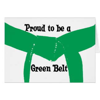 Martial Arts Proud to be a Green Belt Card